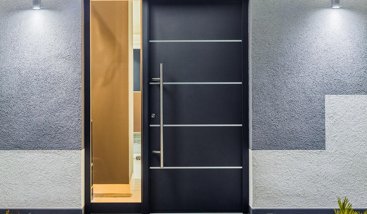 puertas de entrada estéticas y seguras bellafinestra